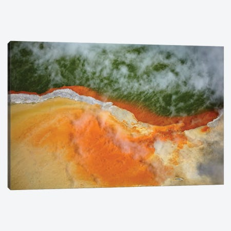 Champagne Pool And Artists Palette, Waiotapu Thermal Reserve, Near Rotorua, North Island, New Zealand Canvas Print #DWA40} by David Wall Canvas Art