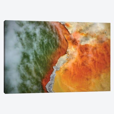 Champagne Pool And Artists Palette, Waiotapu Thermal Reserve, Near Rotorua, North Island, New Zealand Canvas Print #DWA41} by David Wall Canvas Art