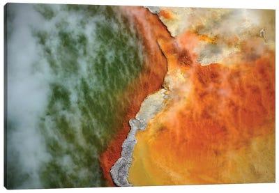 Champagne Pool And Artists Palette, Waiotapu Thermal Reserve, Near Rotorua, North Island, New Zealand Canvas Art Print