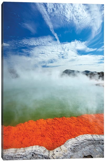 Champagne Pool, Waiotapu Thermal Reserve, Near Rotorua, North Island, New Zealand Canvas Art Print
