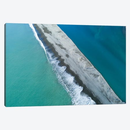 Gravel Bar At Mouth Of Rakaia River, Mid Canterbury, South Island, New Zealand Canvas Print #DWA45} by David Wall Canvas Print