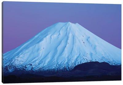 Mt Ngauruhoe At Dawn, Tongariro National Park, Central Plateau, North Island, New Zealand Canvas Art Print
