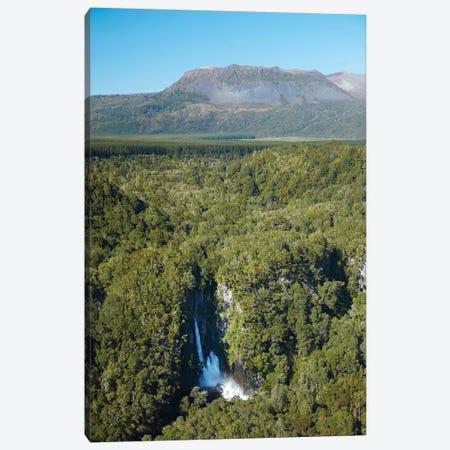 Tarawera Falls On Tarawera River, And Mount Tarawera Volcano, Near Rotorua, North Island, New Zealand Canvas Print #DWA53} by David Wall Art Print