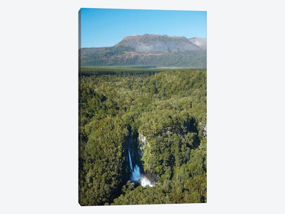 Tarawera Falls On Tarawera River, And Mount Tarawera Volcano, Near Rotorua, North Island, New Zealand by David Wall 1-piece Canvas Artwork