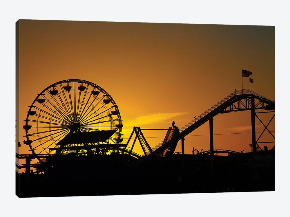 Pacific Wheel West Coaster At Sunset Santa Monica Pier California