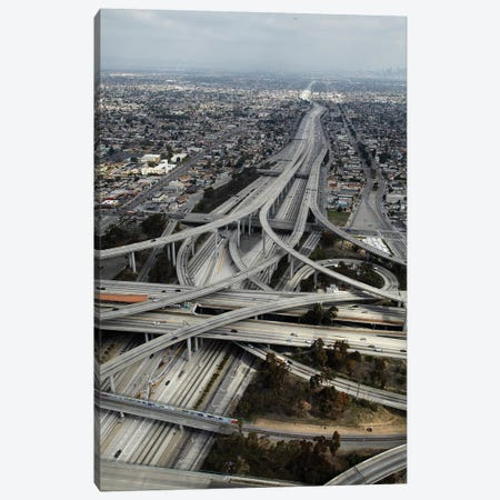 Aerial View I, Judge Harry Pregerson Interchange, South Los Angeles, California, USA 3-Piece Canvas #DWA7} by David Wall Canvas Print