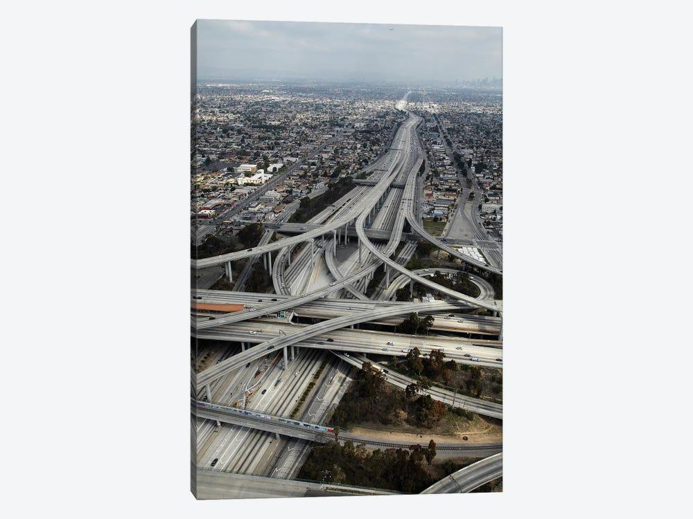 Aerial View I, Judge Harry Pregerson Interchange, South Los Angeles, California, USA by David Wall 1-piece Canvas Print