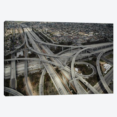 Aerial View II, Judge Harry Pregerson Interchange, South Los Angeles, California, USA Canvas Print #DWA8} by David Wall Canvas Artwork