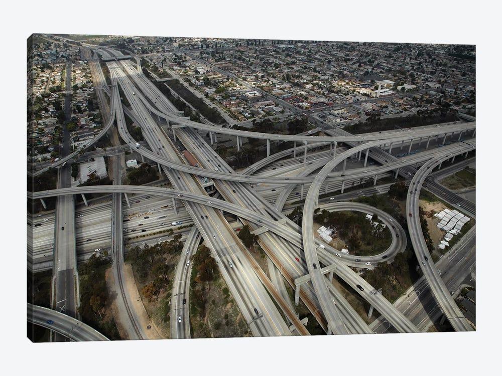 Aerial View II, Judge Harry Pregerson Interchange, South Los Angeles, California, USA by David Wall 1-piece Canvas Artwork