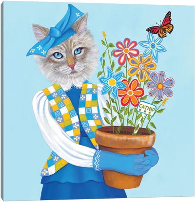 Catnip Canvas Art Print