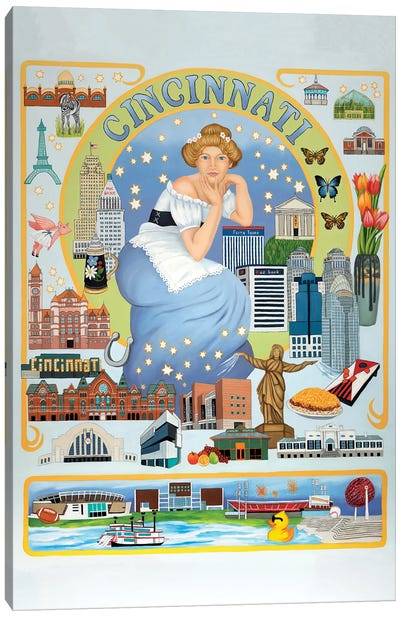 Cincinnati Canvas Art Print