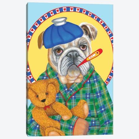 Hubby Has The Flu Canvas Print #DWB40} by Dawna Boehmer Canvas Art Print