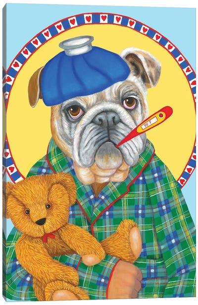 Hubby Has The Flu Canvas Art Print