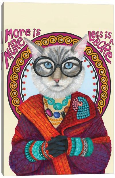 Purrfect Iris Apfel Canvas Art Print