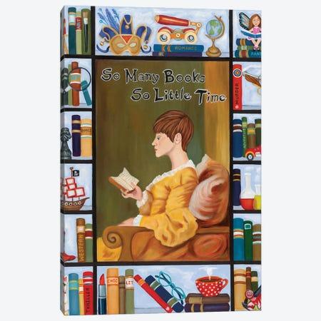 So Many Books So Little Time Canvas Print #DWB45} by Dawna Boehmer Canvas Art