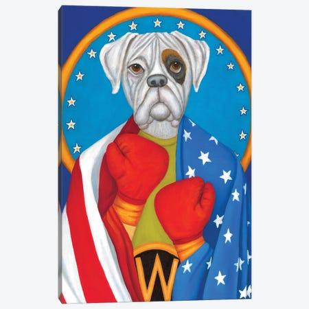 The Boxer Canvas Print #DWB48} by Dawna Boehmer Art Print