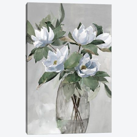 Floral in Gray Canvas Print #DWD13} by Dogwood Portfolio Canvas Art