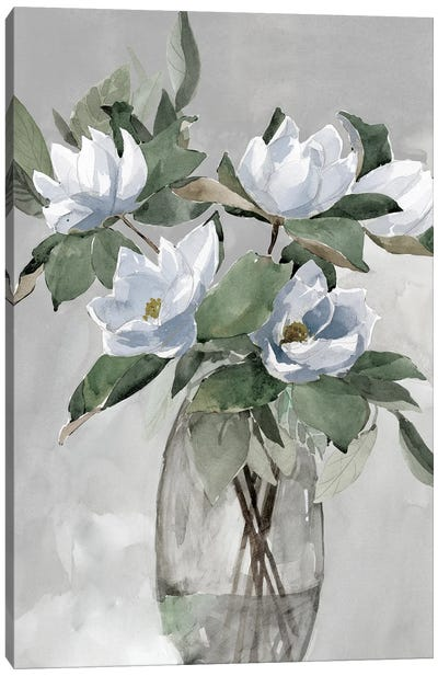 Floral in Gray Canvas Art Print