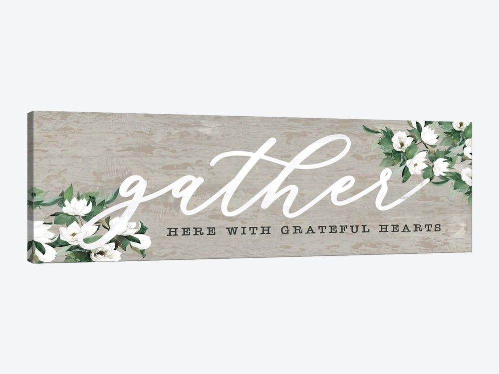Gather Here With Grateful Hearts by Dogwood Portfolio 1-piece Canvas Art Print
