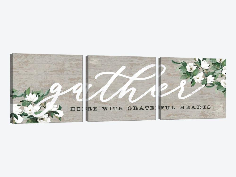 Gather Here With Grateful Hearts by Dogwood Portfolio 3-piece Art Print