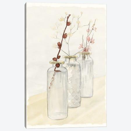 Glass Bottle Row Canvas Print #DWD18} by Dogwood Portfolio Canvas Art