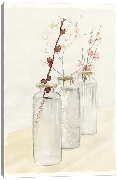 Glass Bottle Row Canvas Art Print