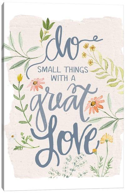Great Love Flowers Canvas Art Print