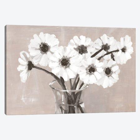 Greige Floral Canvas Print #DWD20} by Dogwood Portfolio Art Print