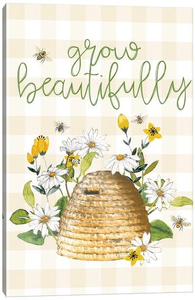 Grow Beautifully Beehive Canvas Art Print