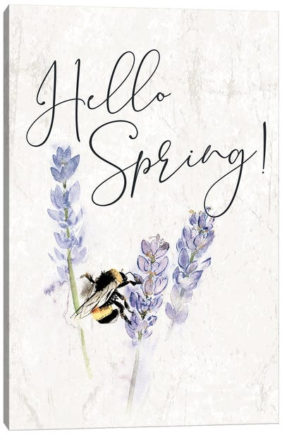 Hello Spring Bee Canvas Art Print
