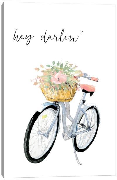 Hey Darlin' Bicycle Canvas Art Print