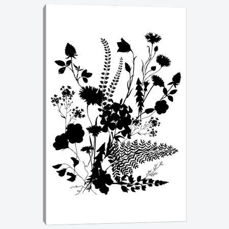 Inked Flowers Canvas Print #DWD27} by Dogwood Portfolio Canvas Artwork