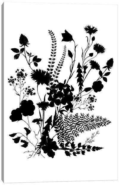 Inked Flowers Canvas Art Print