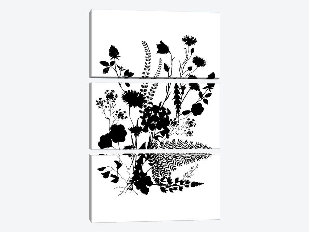 Inked Flowers by Dogwood Portfolio 3-piece Canvas Art Print