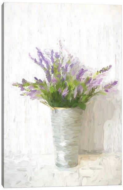 Lavender On White Canvas Art Print