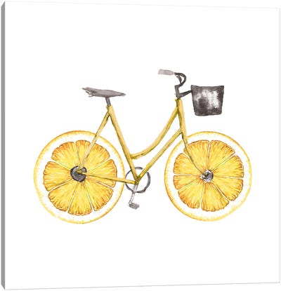 Lemon Bike Canvas Art Print