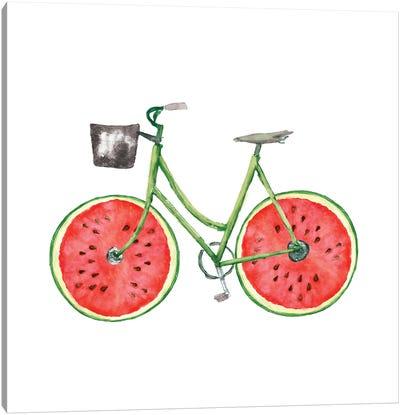 Watermelon Bike Canvas Art Print