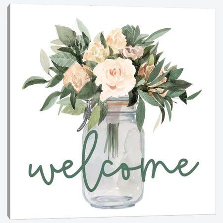 Welcome Flowers Canvas Print #DWD48} by Dogwood Portfolio Art Print