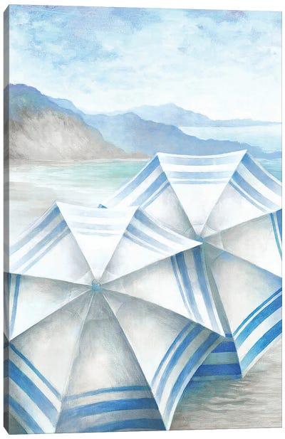 Coastal Umbrellas Canvas Art Print