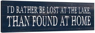 Lost At The Lake Canvas Art Print