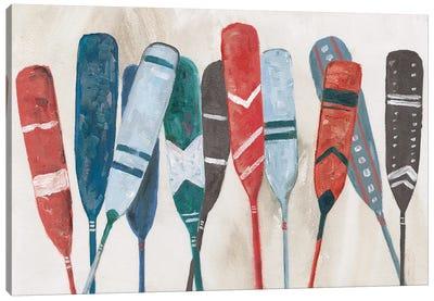Pattern Paddles Canvas Art Print