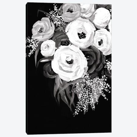 Black And White Floral Canvas Print #DWD6} by Dogwood Portfolio Canvas Artwork