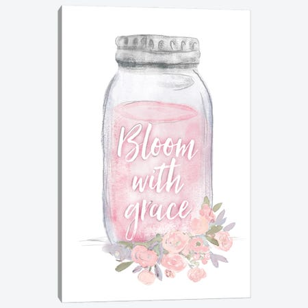 Bloom With Grace Jar Canvas Print #DWD8} by Dogwood Portfolio Canvas Print