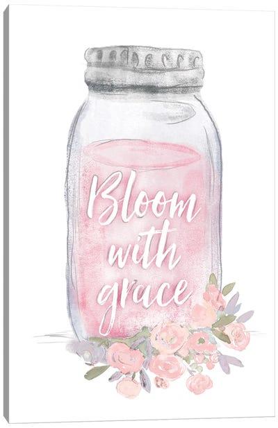 Bloom With Grace Jar Canvas Art Print