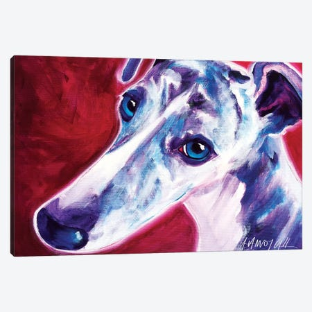 Myrtle The Greyhound Canvas Print #DWG101} by DawgArt Canvas Print