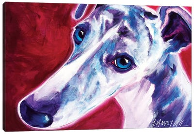 Myrtle The Greyhound Canvas Art Print