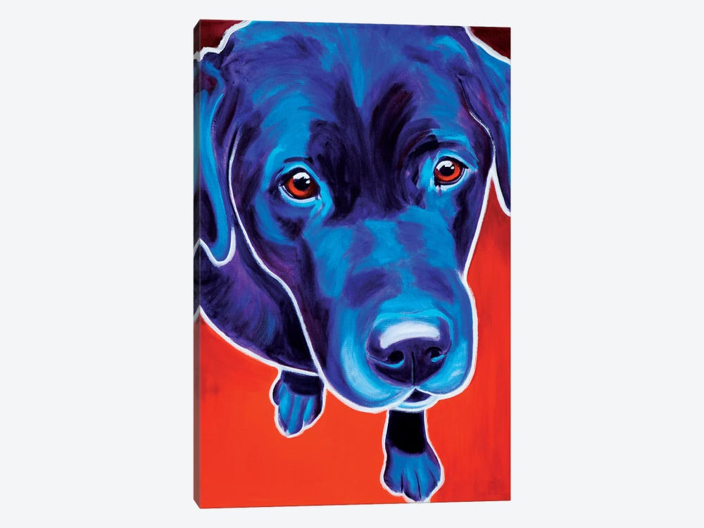 Olive The Labrador by DawgArt 1-piece Canvas Artwork