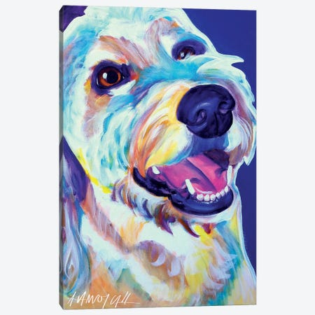 Penny The Goldendoodle Canvas Print #DWG107} by DawgArt Canvas Wall Art