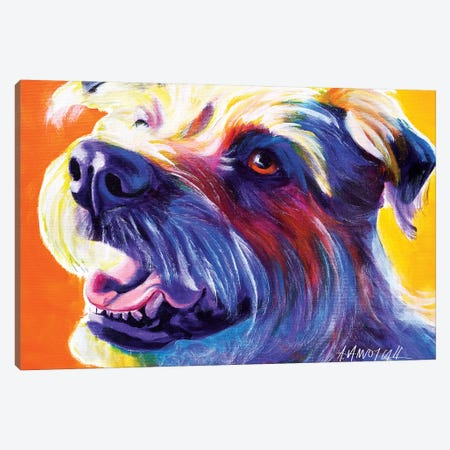 Penny The Wire Hair Terrier Canvas Print #DWG108} by DawgArt Art Print
