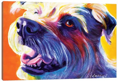 Penny The Wire Hair Terrier Canvas Print #DWG108